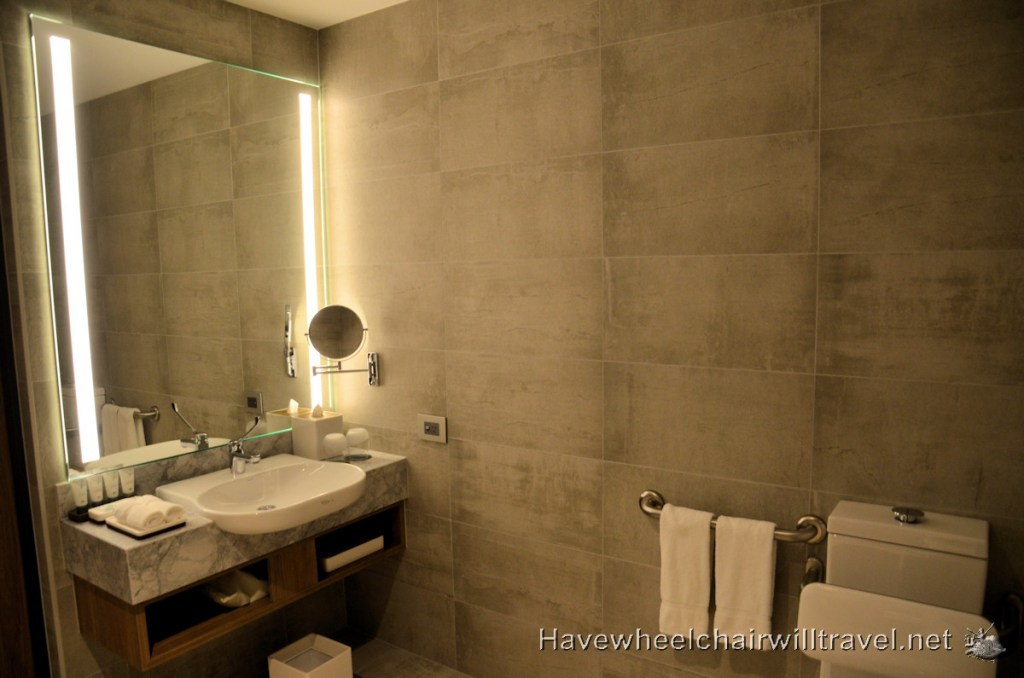 The Westin Brisbane - Accessible Bathroom Sink and Facilities - Accessible Accommodation Brisbane - Have Wheelchair Will Travel