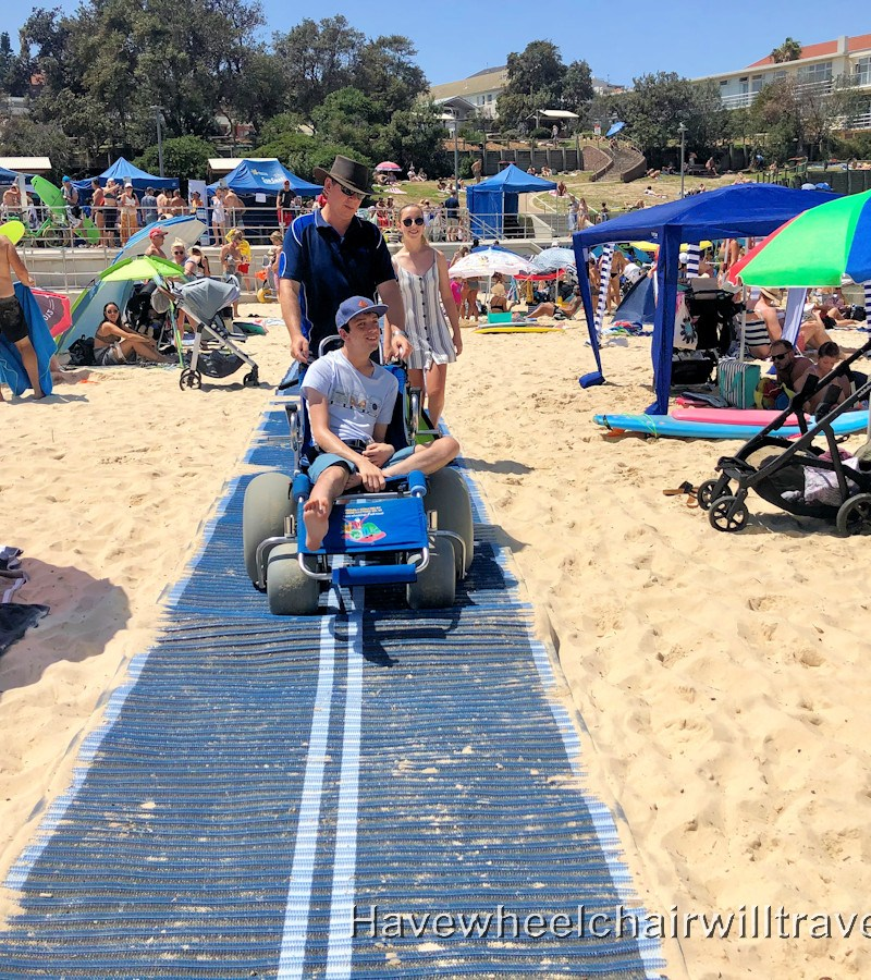 Beach matting Bondi Beach - Have Wheelchair Will Travel