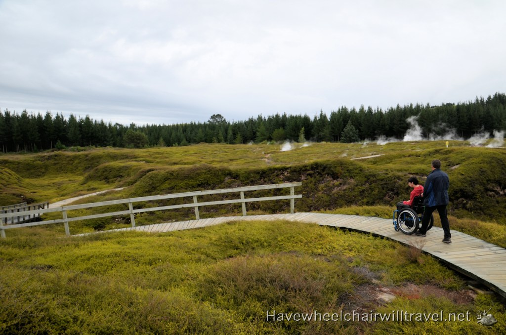 Craters of the Moon Geothermal Walk - Accessible New Zealand - Have Wheelchair Will Travel