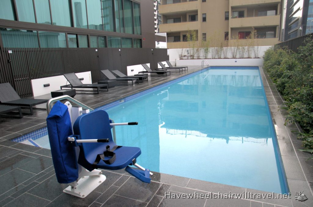 Novotel South Bank Brisbane pool access - Have Wheelchair Will Travel
