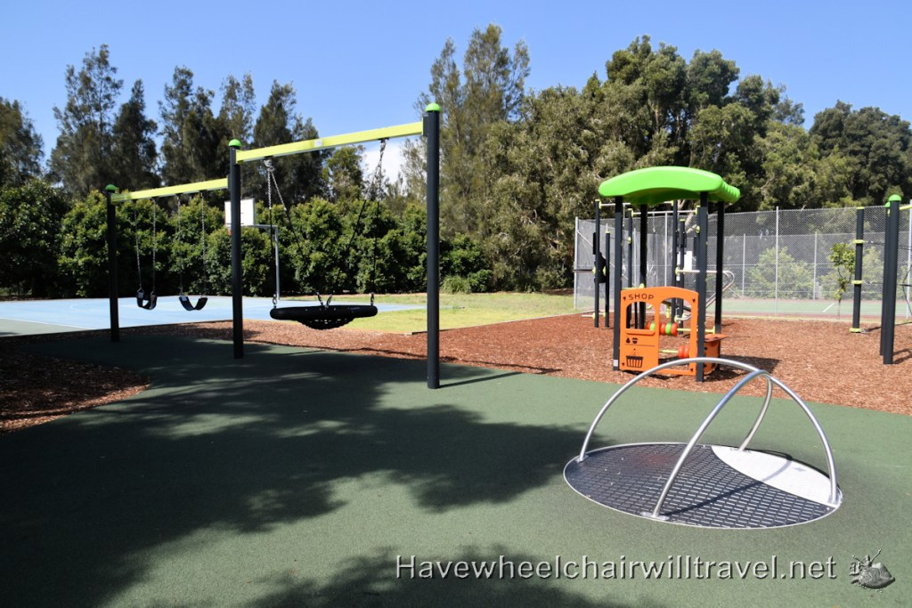 Swansea Lakeside Holiday Park playground - Have Wheelchair Will Travel