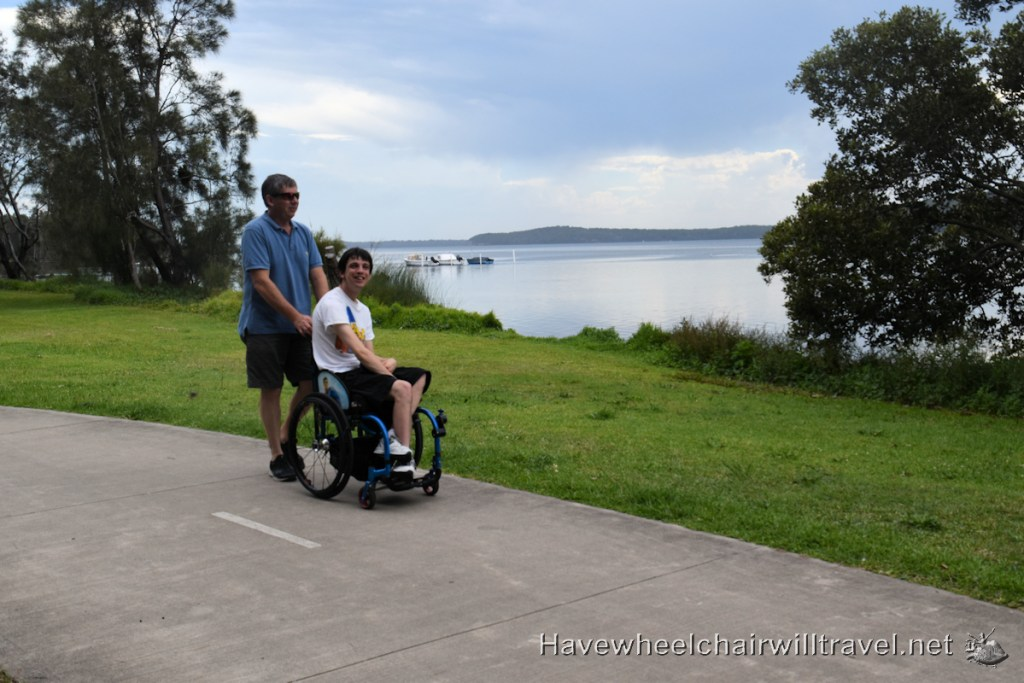 Swansea Lakeside Holiday Park walk - Have Wheelchair Will Travel