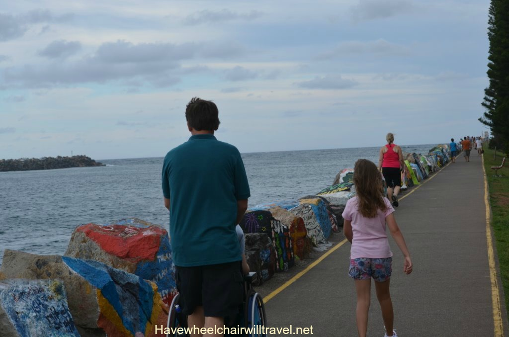 Breakwall - Port Macquarie wheelchair accessible travel guide - Have Wheelchair Will Travel