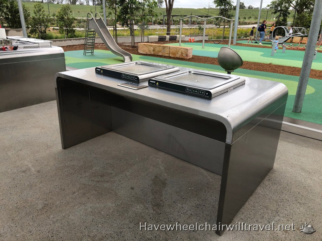 Accessible barbecue - Dawson Damer Water Park - Have Wheelchair Will Travel