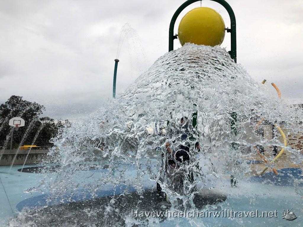 Dawson Damer Water Park - Water Bucket fun - Have Wheelchair Will Travel