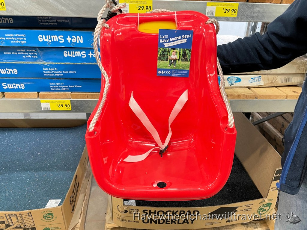 Bunnings swing - disability equipment solutions
