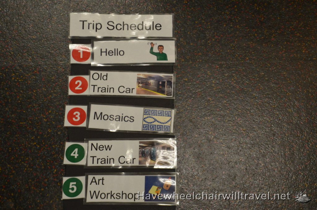 New York Transit Museum - visual tools - Have Wheelchair Will Travel