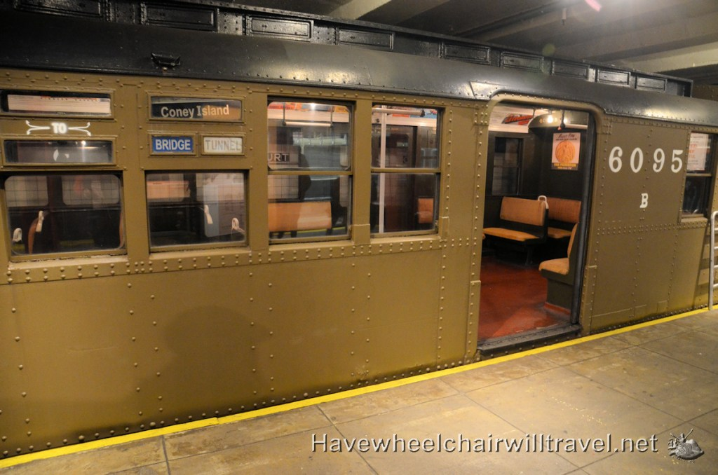 New York Transit Museum - wheelchair accessible - Have Wheelchair Will Travel