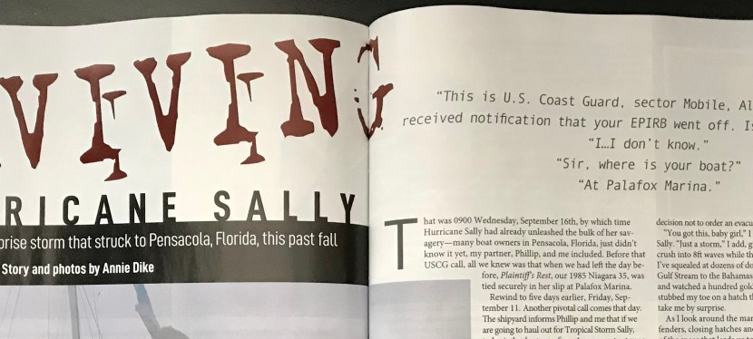 Article in SAIL Magazine: Surviving Hurricane Sally