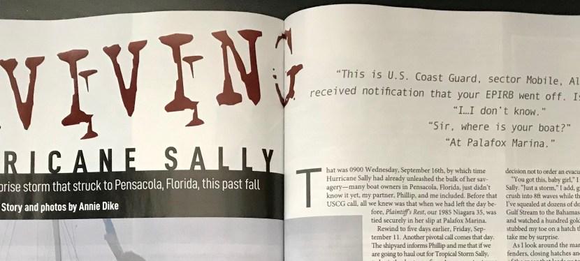 Article in SAIL Magazine: Surviving Hurricane Sally
