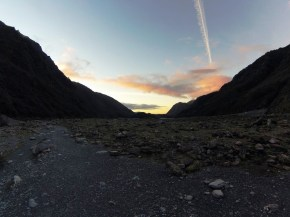 sunset Fox Glacier