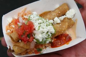 Duck Confit Taquitos from Fritas Shack