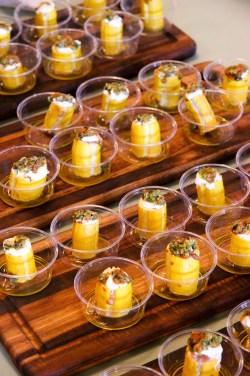 Sausage Stuffed Ronde de Nice Squash & Squash Blossom-Pepita Pesto