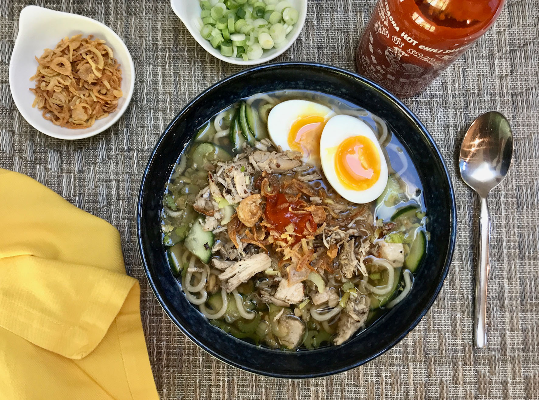 Spicy Indonesian Soup Soto Ajam