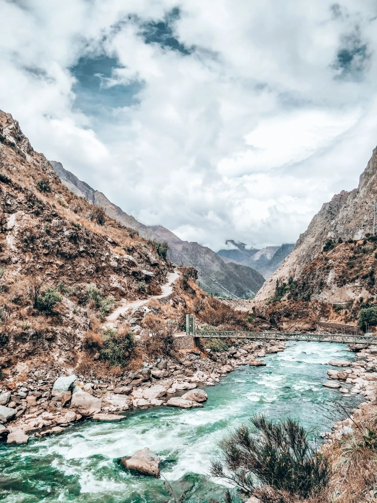 a river marks the starting point of the 4 day inca trail to machu picchu