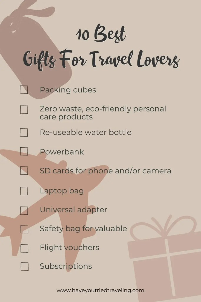 10 best gifts for travel lovers