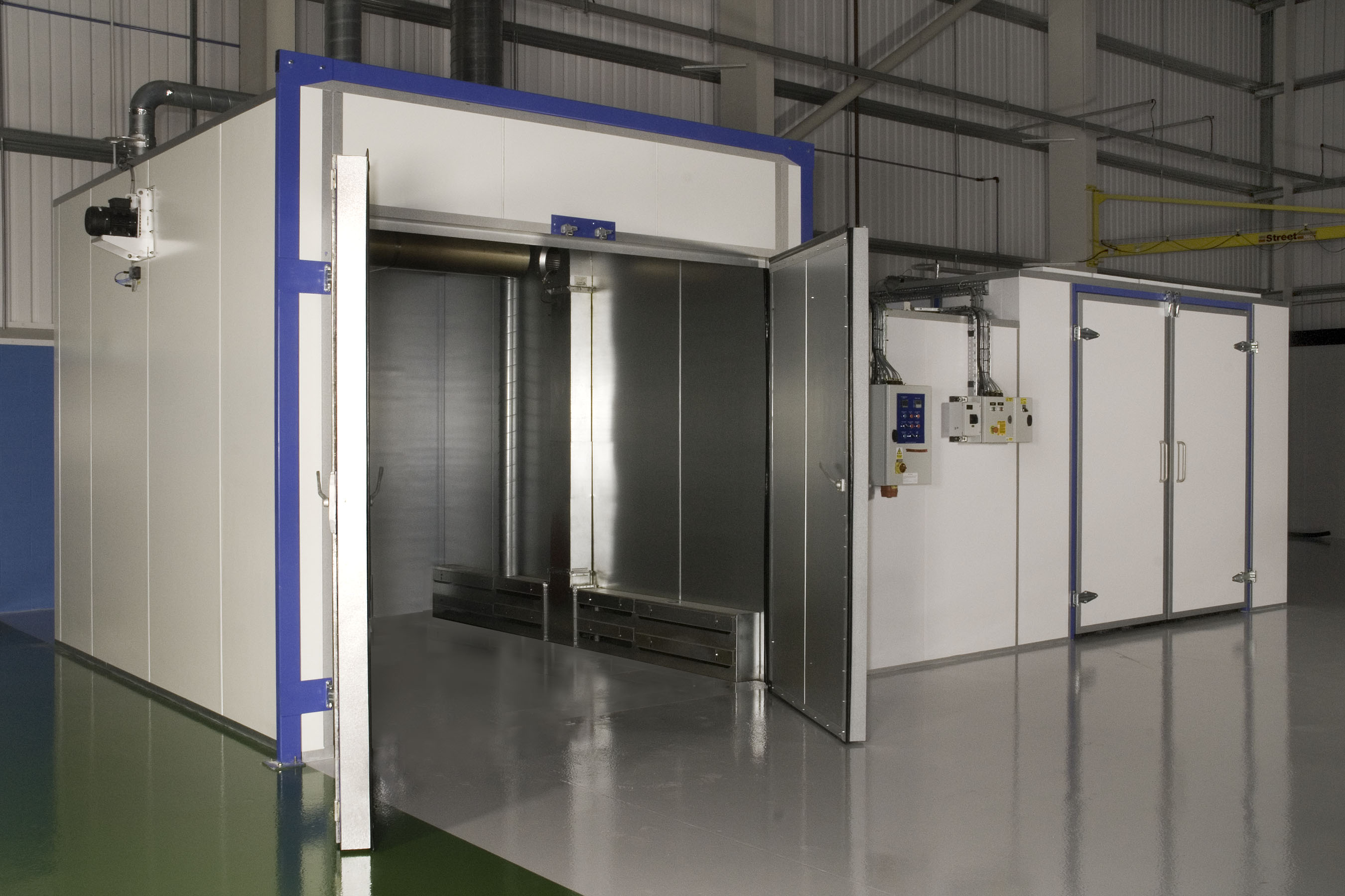Industrial ovens from haviland limited manual wet paint for Powder coating paint booth