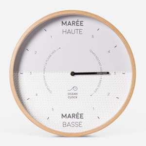 horloge des maree Ocean Clock Blanche