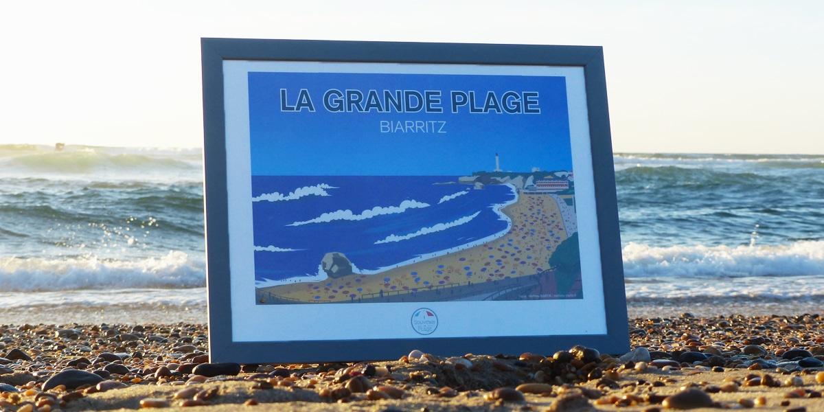 tableau-la-grande-plage-biarritz