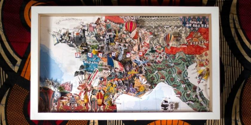 the map quartier moderne anglet