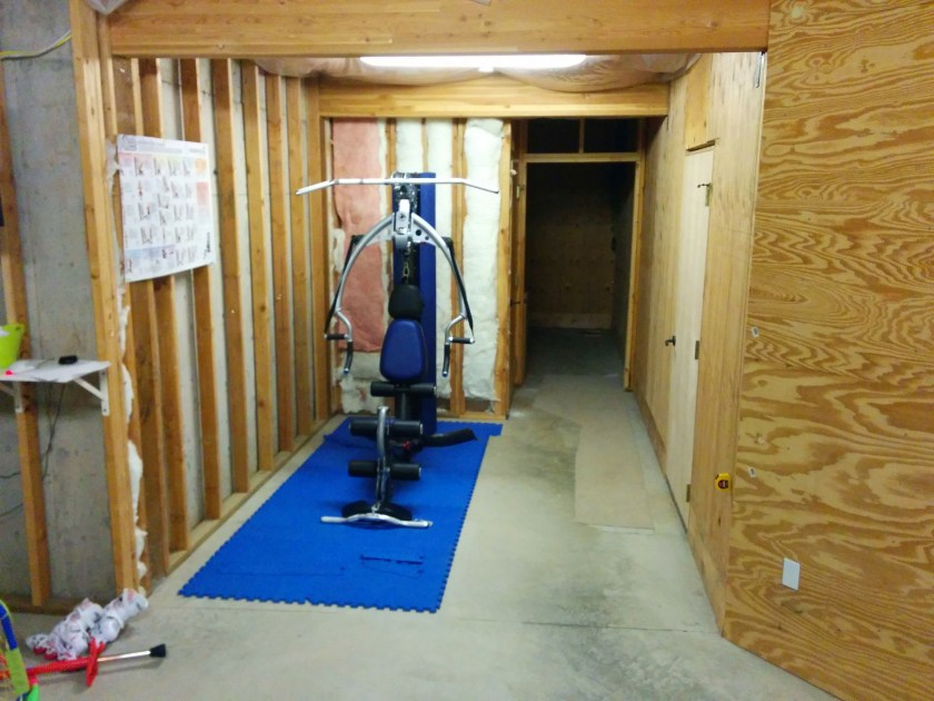 Basement home gym: heating & air conditioning having fun along the way