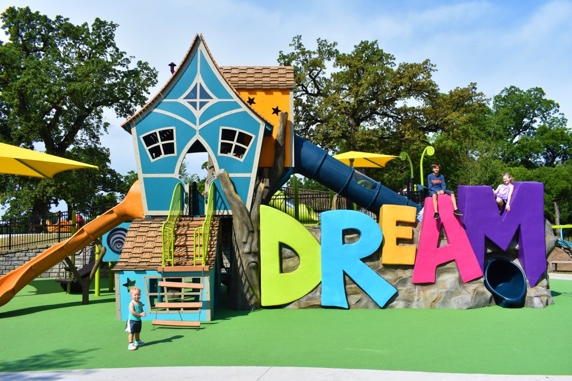 Fort Worth Dream Park at Trinity Park All-Inclusive Playground