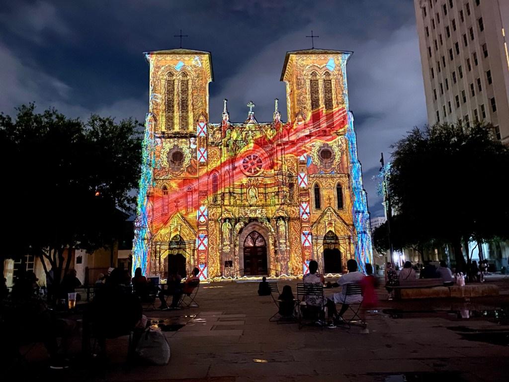 The Saga San Antonio Texas light show