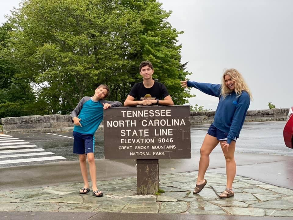 Tennessee North Carolina State Line in the Great Smoky Mountains