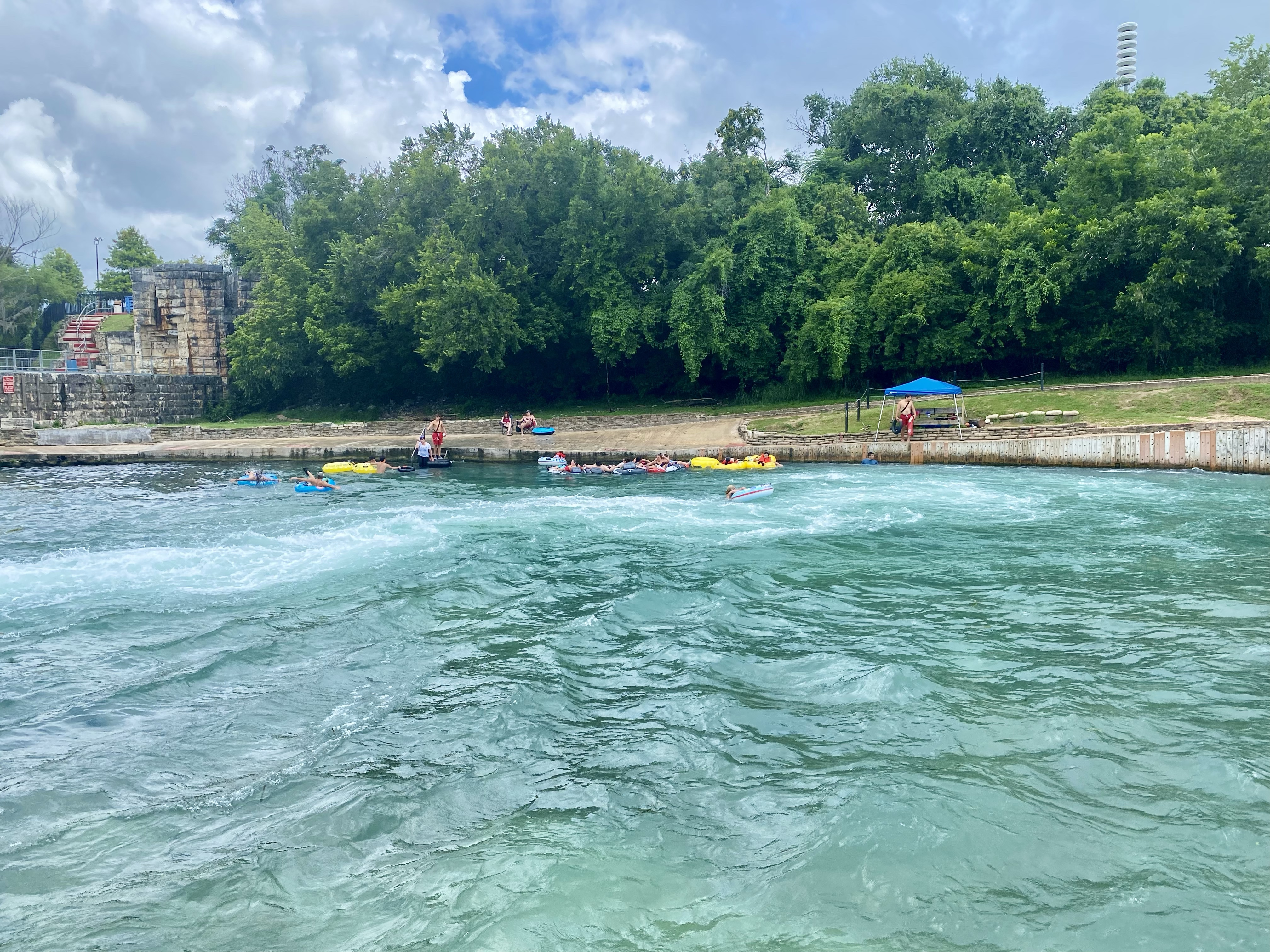 The Tube Chute on the Comal River at The Float In, New Braunfels