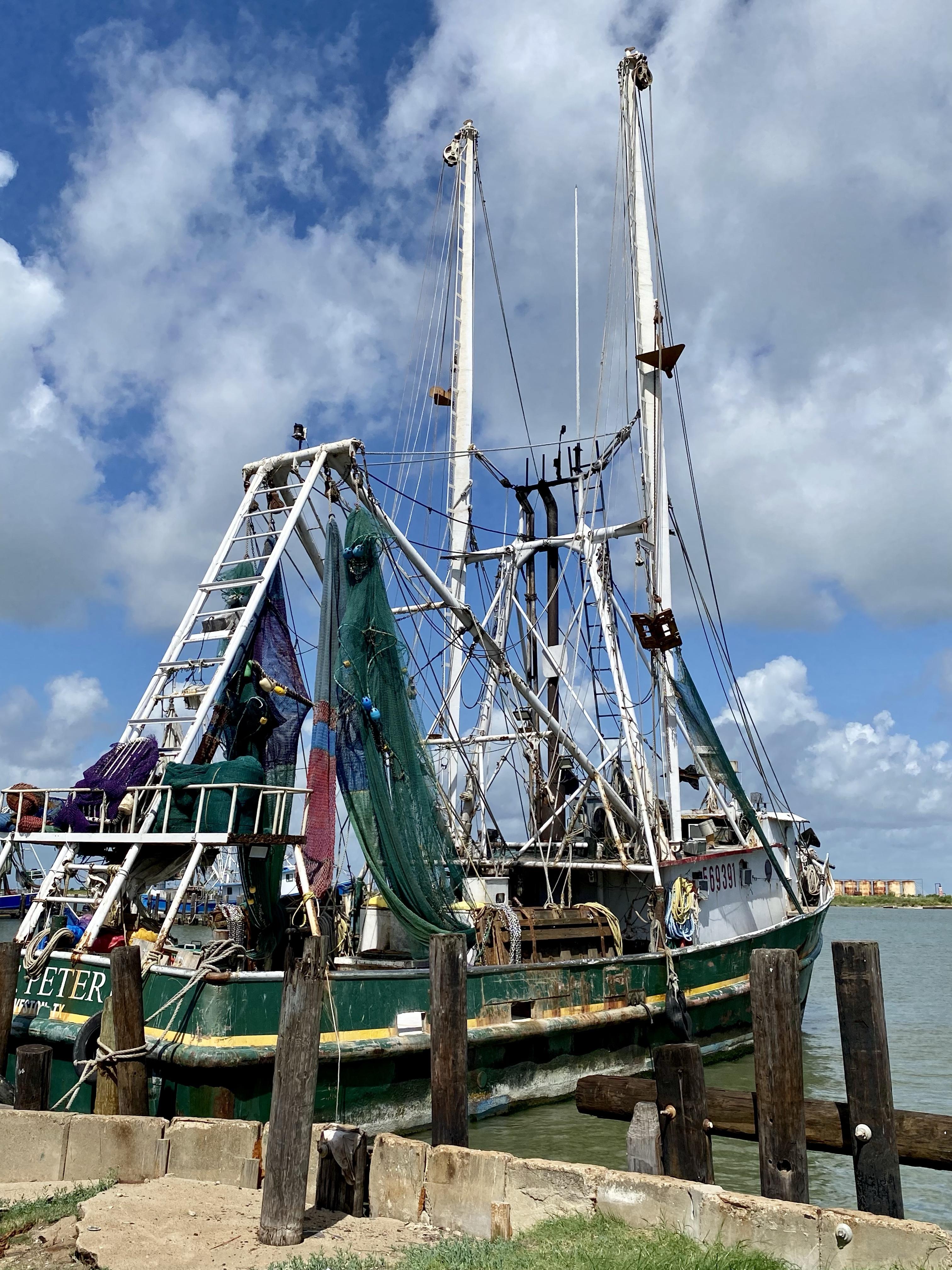 Shrimp boat on Bolivar Peninsula