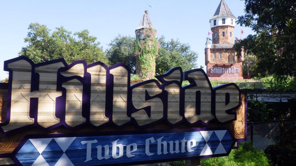 Hillside Tube Chute at Schlitterbahn River Resort in New Braunfels Texas