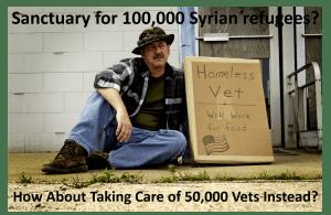 refugees vs homeless vets