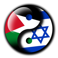 Palestine Israel Yin Yang