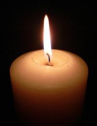 ilustrace: hořící svíčka