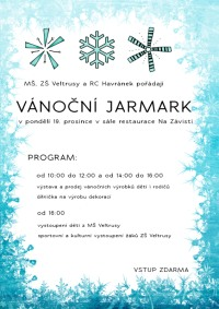 plakát zvoucí na vánoční jarmark
