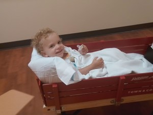 Havyn is all set for another MRI!