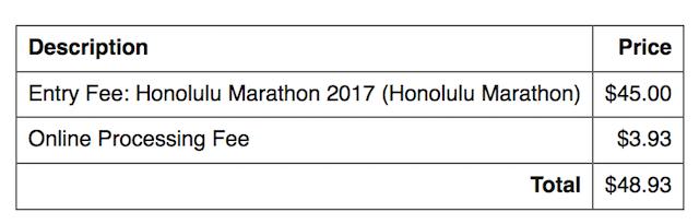 ホノルルマラソン2017