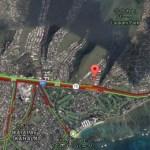 Update:KALANIANAOLEのカラーニ高校の近くで火災発生。大渋滞中です。