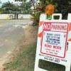 2/17-19ラニカイビーチ前は駐車禁止。ラニカイビーチ、ラニカイピルボックスに行く人は要注意。