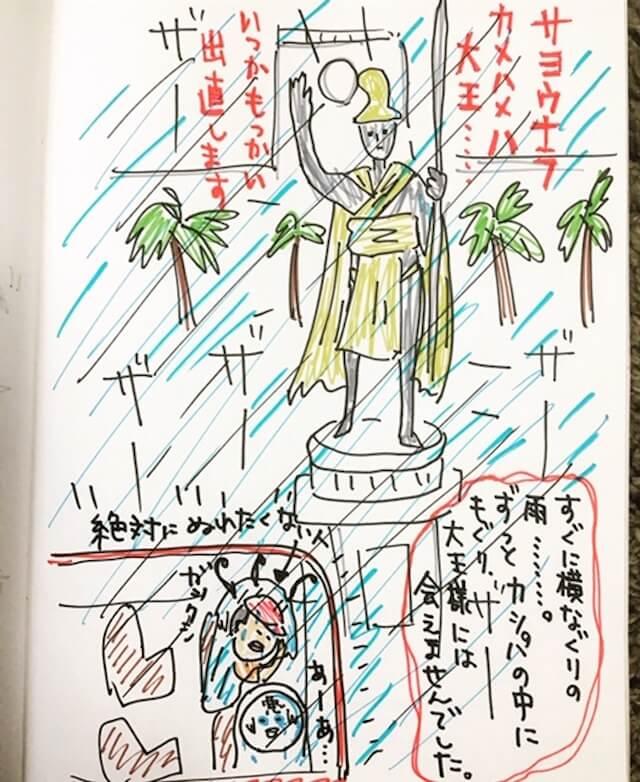 イラストレーターちあきさんのハワイ旅行一コマ漫画