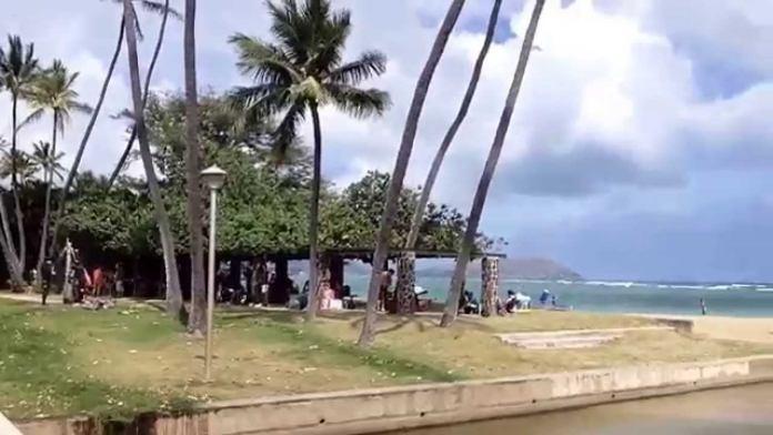 Waialaie Beach Park bei Kahala – Ruhiger Strand, wenig Wellen