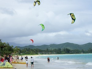 Kite Surfen Oahu Kailua Hawaii