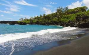 Black Sand Beach auf Maui