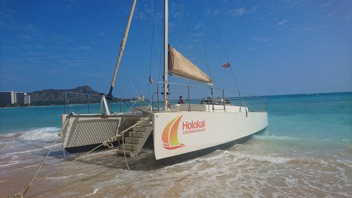 Segeln mit einem Katamaran in Waikiki