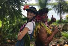 Hawaiianische Dschungelshow in Hawaii mit Betty Taube