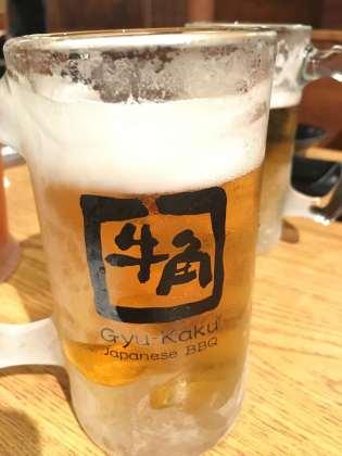 Japanisches Bier im Restaurant in Hawaii