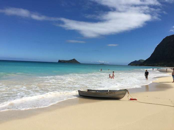 Waimanalo Strand in Hawaii