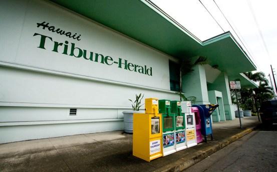 The Hawaii Tribune-Herald newspaper building in Hilo, Hawaii. Hawaii 24/7 File Photo