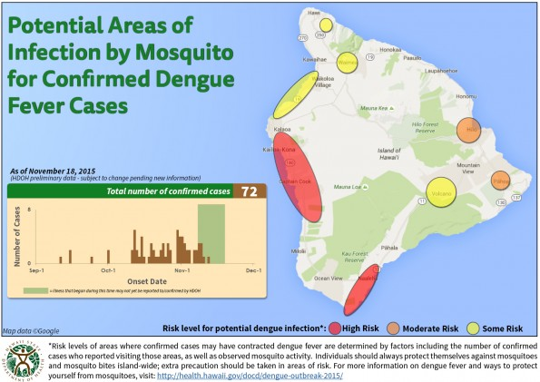 Map released Wednesday (Nov 18) by the Hawaii State Department of Health.