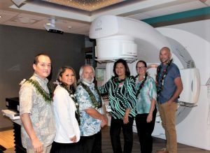 Radiation Oncology Clinic staff (left to right): Dr. Scott Moon, Poppy Sokham, Dr. Robert Kover, Ella Kunitomo, Jeanne Kunis and Patrick Olney. Courtesy Photo.